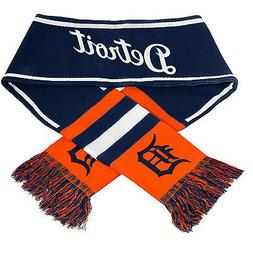 "Detroit Tigers Scarf Knit Winter Neck NEW 65"" Wordmark Team"