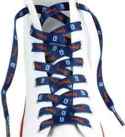 "Detroit Tigers Shoe Laces Strings MLB Team Colors 54"" One Pa"