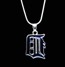 Detroit Tigers Silver Necklace Chain MLB Team Pendant Logo 2