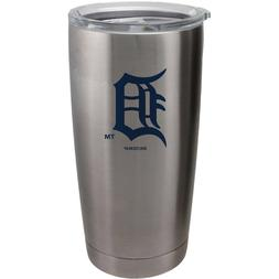 detroit tigers silver travel tumbler 20oz ultra