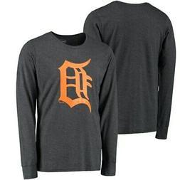 Detroit Tigers Majestic Threads Tri-Blend Long Sleeve T-Shir