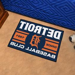 "Detroit Tigers Uniform Inspired 19"" X 30"" Starter Area Rug F"