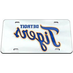 Detroit Tigers Vehicle License Plate WinCraft Crystal Mirror