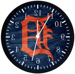 Detroit Tigers Black Frame Wall Clock Nice For Decor or Gift