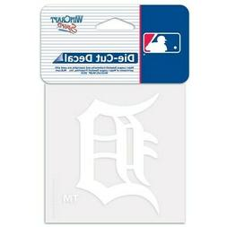 detroit tigers white logo cut decal 4