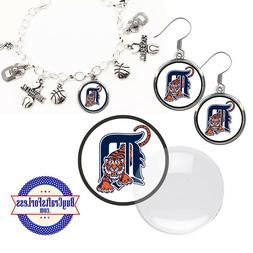FREE DESIGN > DETROIT TIGERS -Earrings, Pendant, Bracelet, C