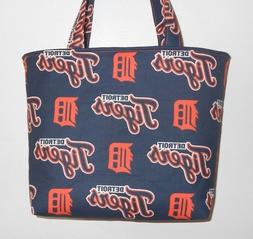 Handmade MLB Detroit Tigers Tote Purse Bag