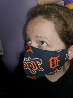 Homemade Fabric Reusable Face Mask washable Detroit Tigers