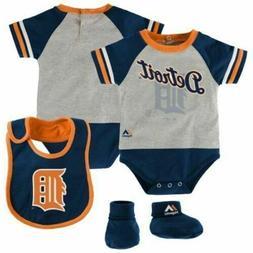Infant Detroit Tigers Creeper Set 'Lil Player Bodysuit Bib B