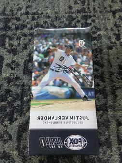 Justin Verlander Mini Bobblehead SGA Detroit Tigers - with B