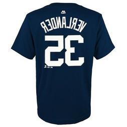 Justin Verlander MLB Majestic Detroit Tigers YOUTH Navy Play