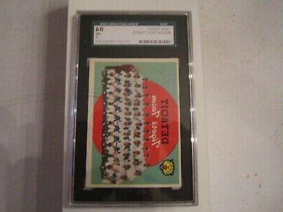1959 detroit tigers 329 baseball card sgc