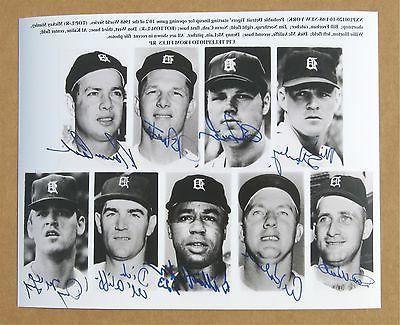 1968 Detroit Tigers Up Signed Photo Kaline