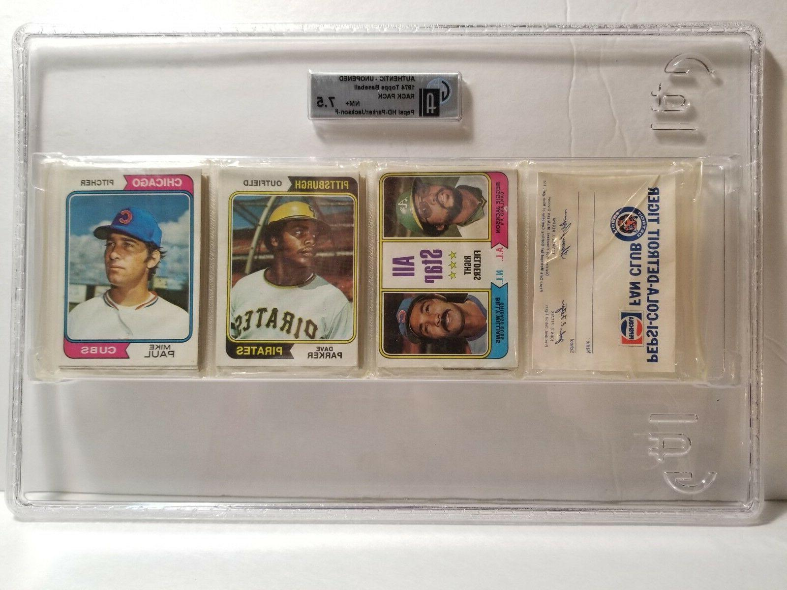 1974 topps unopened rack pack detroit tigers