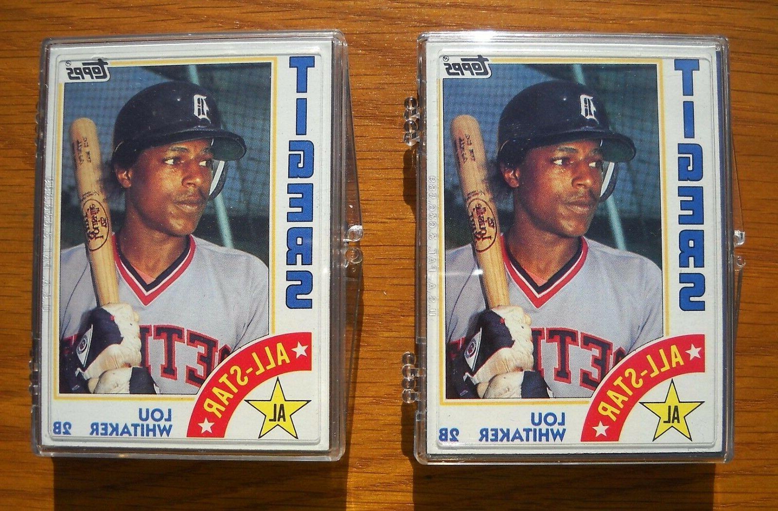 1984 topps detroit tigers team set lot