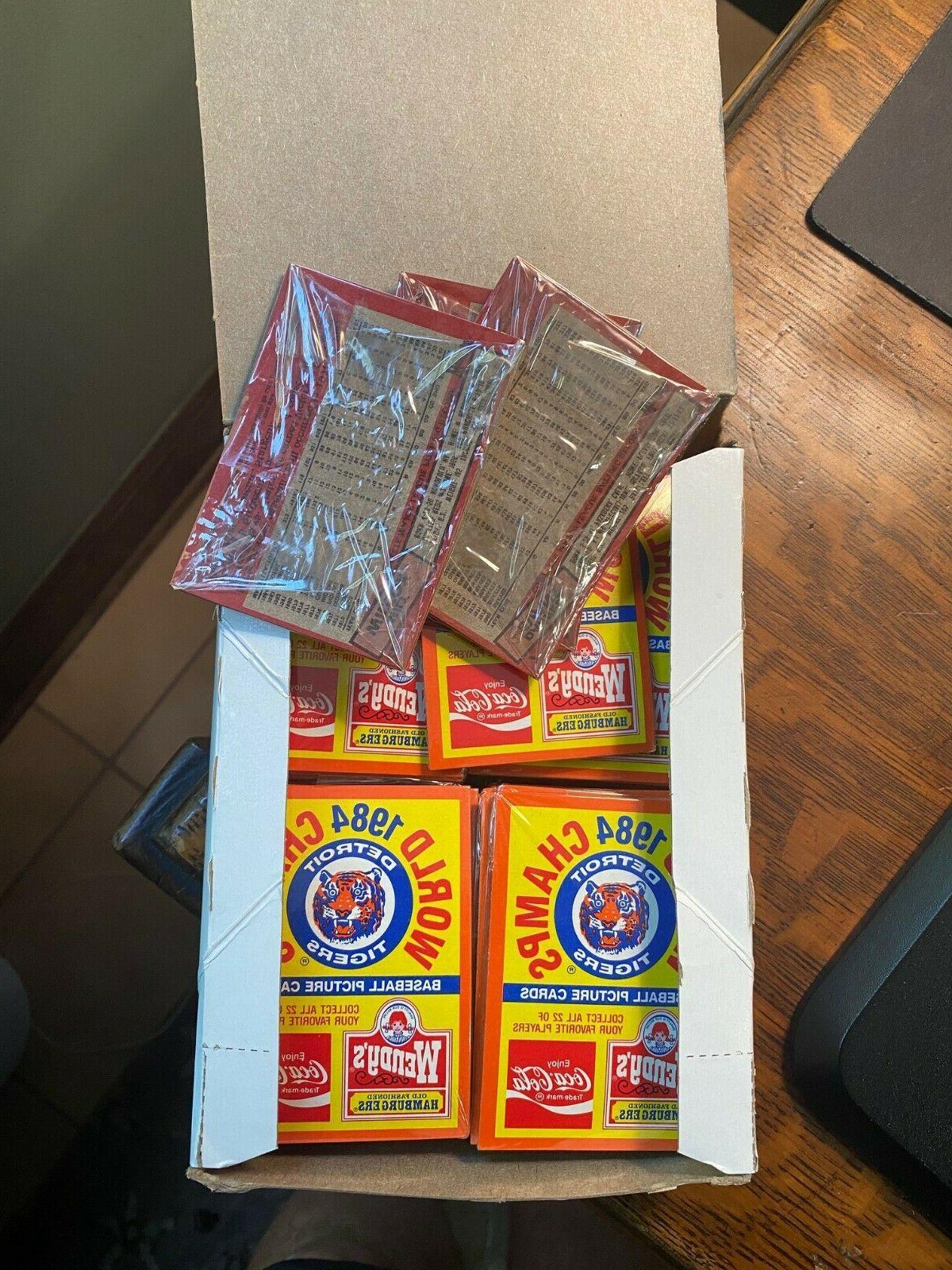 1984 Wendy's Coca-Cola Tigers packs sets