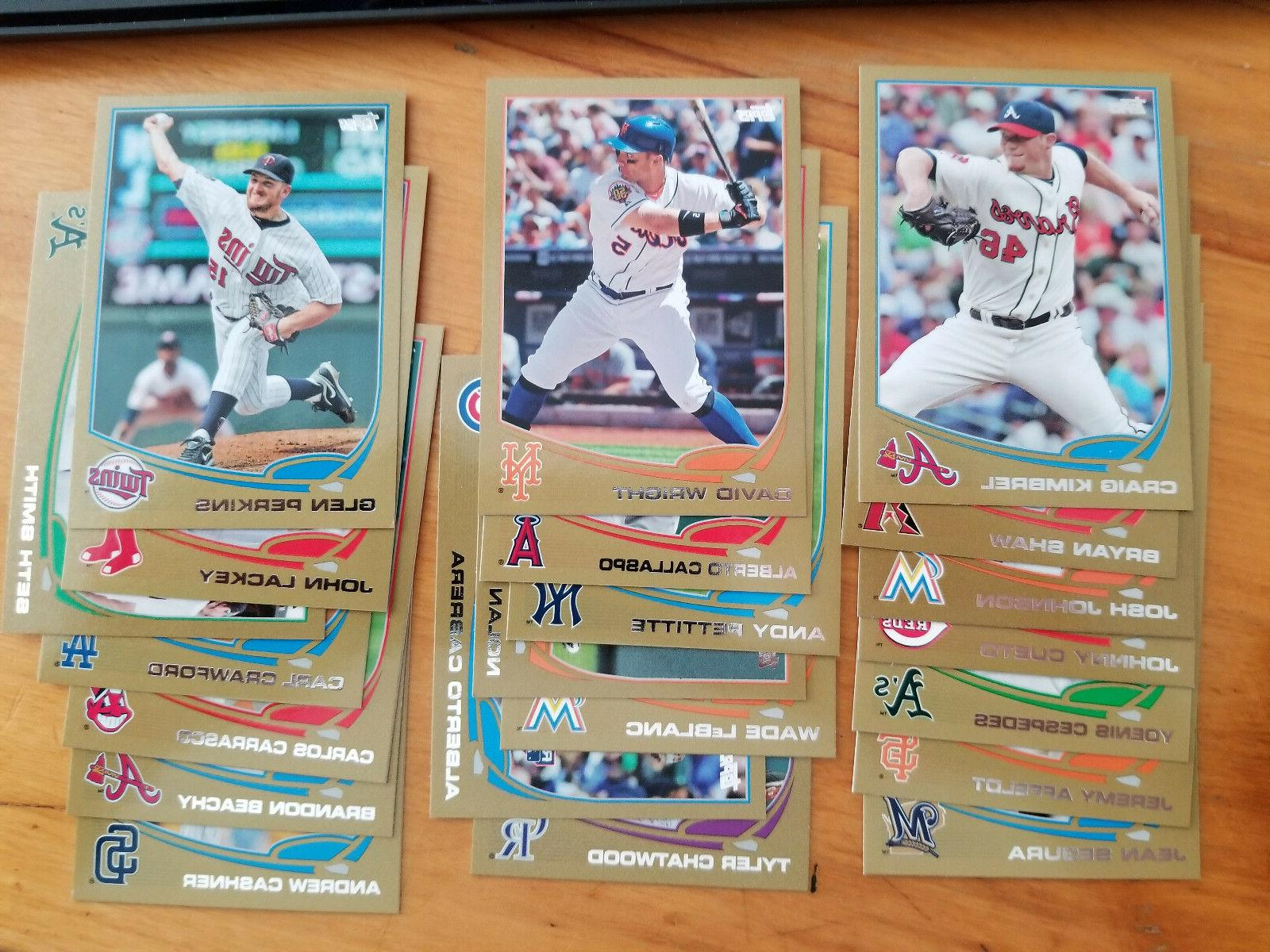 2013 topps gold 2013 parallel fill your