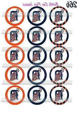 """Detroit sheet Baseball MLB 45-1"""" Bottle Cap"""