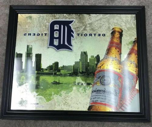 budweiser detroit tigers picture frame