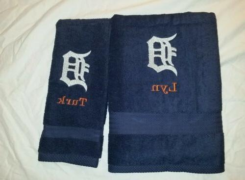 custom detroit tigers logo embroidered bath
