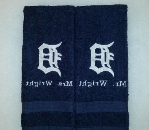 custom personalize detroit tigers logo embroidered navy