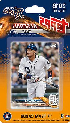 Detroit Tigers 2018 Topps Factory Sealed Team Set Cabrera Ma