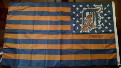 detroit tigers 3x5 american flag us seller