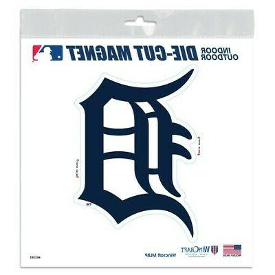 detroit tigers 6 x6 die cut magnet