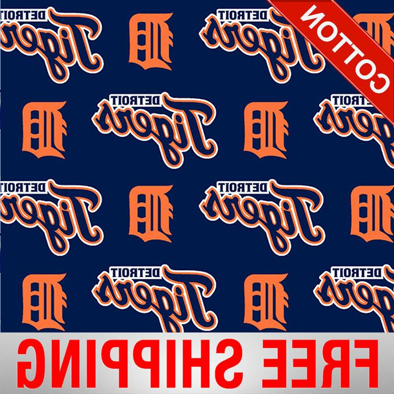 detroit tigers allovers mlb cotton fabric 58
