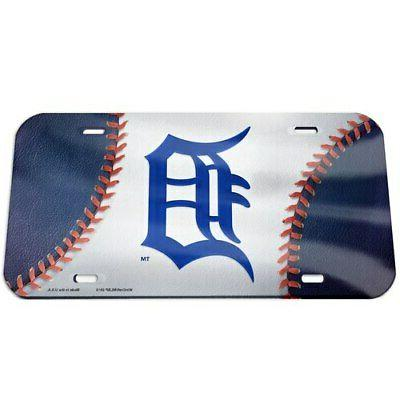 detroit tigers ball crystal mirror license plate