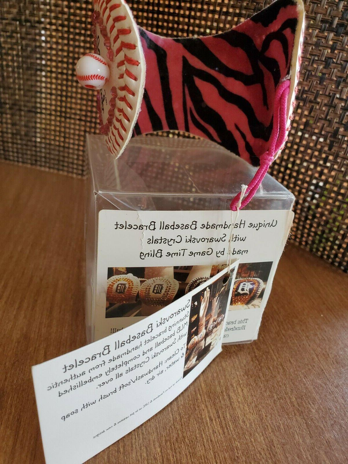 Detroit baseball Handmade cuff bracelet NWT