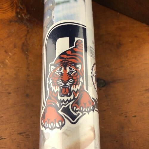 Detroit Baseball Wallpaper Border Roll 15Ft Prepasted