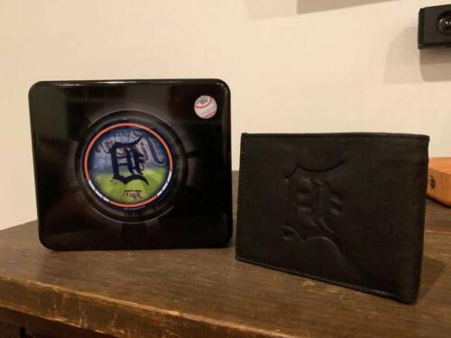Detroit Tigers Wallet With Crate.