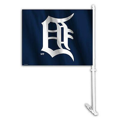 detroit tigers car flag with pole new