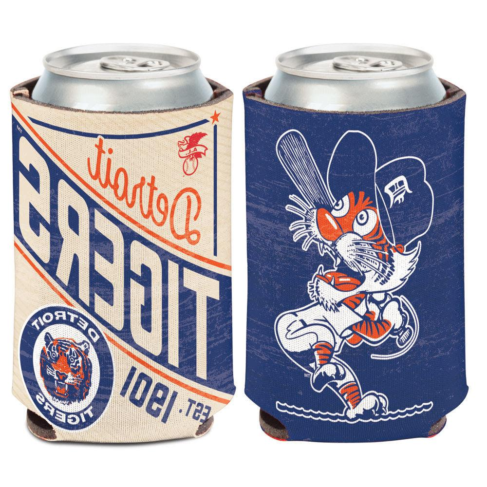 detroit tigers cooperstown can cooler 12 oz