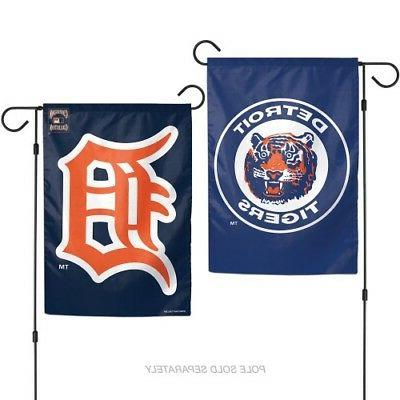detroit tigers cooperstown coll 2 sided garden