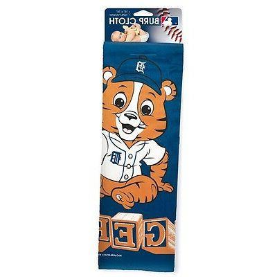 "Detroit Tigers Fan Burp Cloth 16""x16"" MLB Authentic"