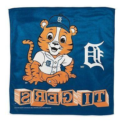 detroit tigers littlest fan burp cloth 16