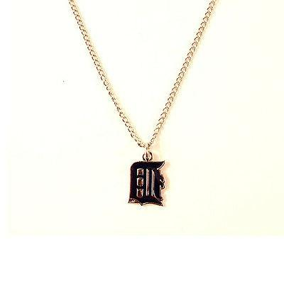 detroit tigers logo pendant necklace with chain