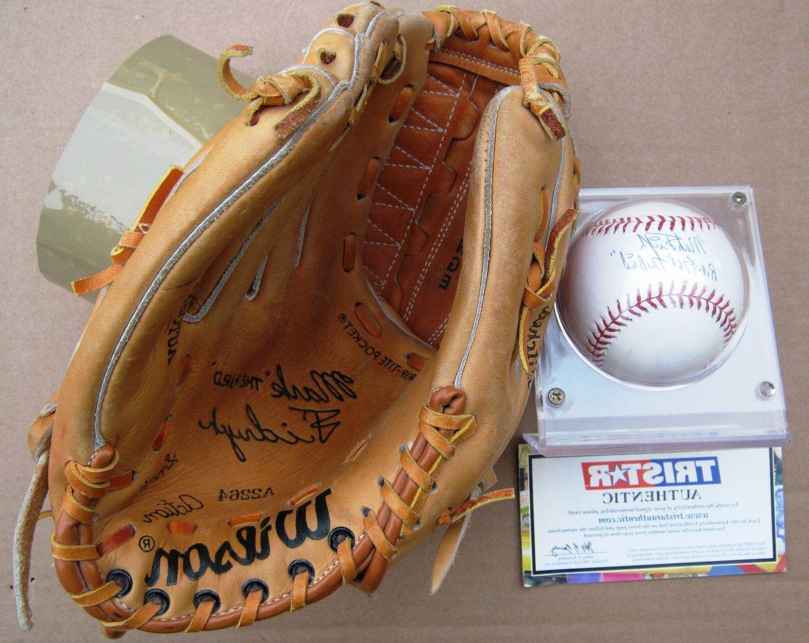 detroit tigers mark the bird fidrych glove
