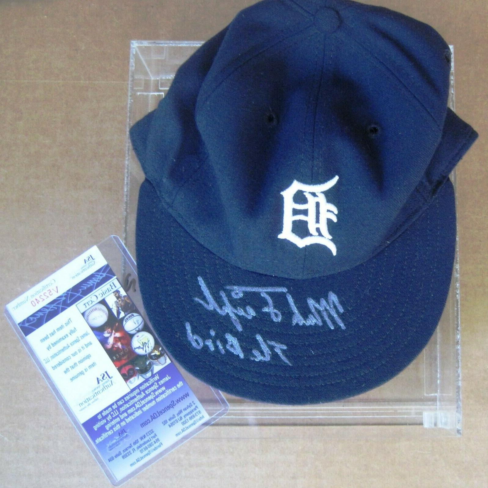 Detroit Tigers' Mark  Fidrych Signed cap with JSA COA & disp