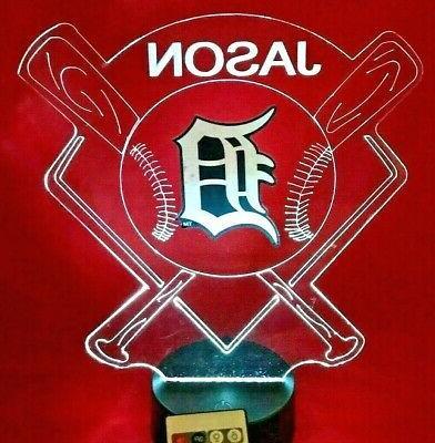 detroit tigers mlb baseball personalized free light