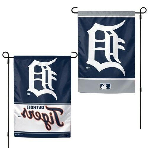 "Detroit Tigers MLB Garden Flag Double Sided Licensed 12"" x 1"