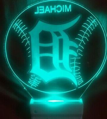 Detroit Night Light Personalize LED In Dawn