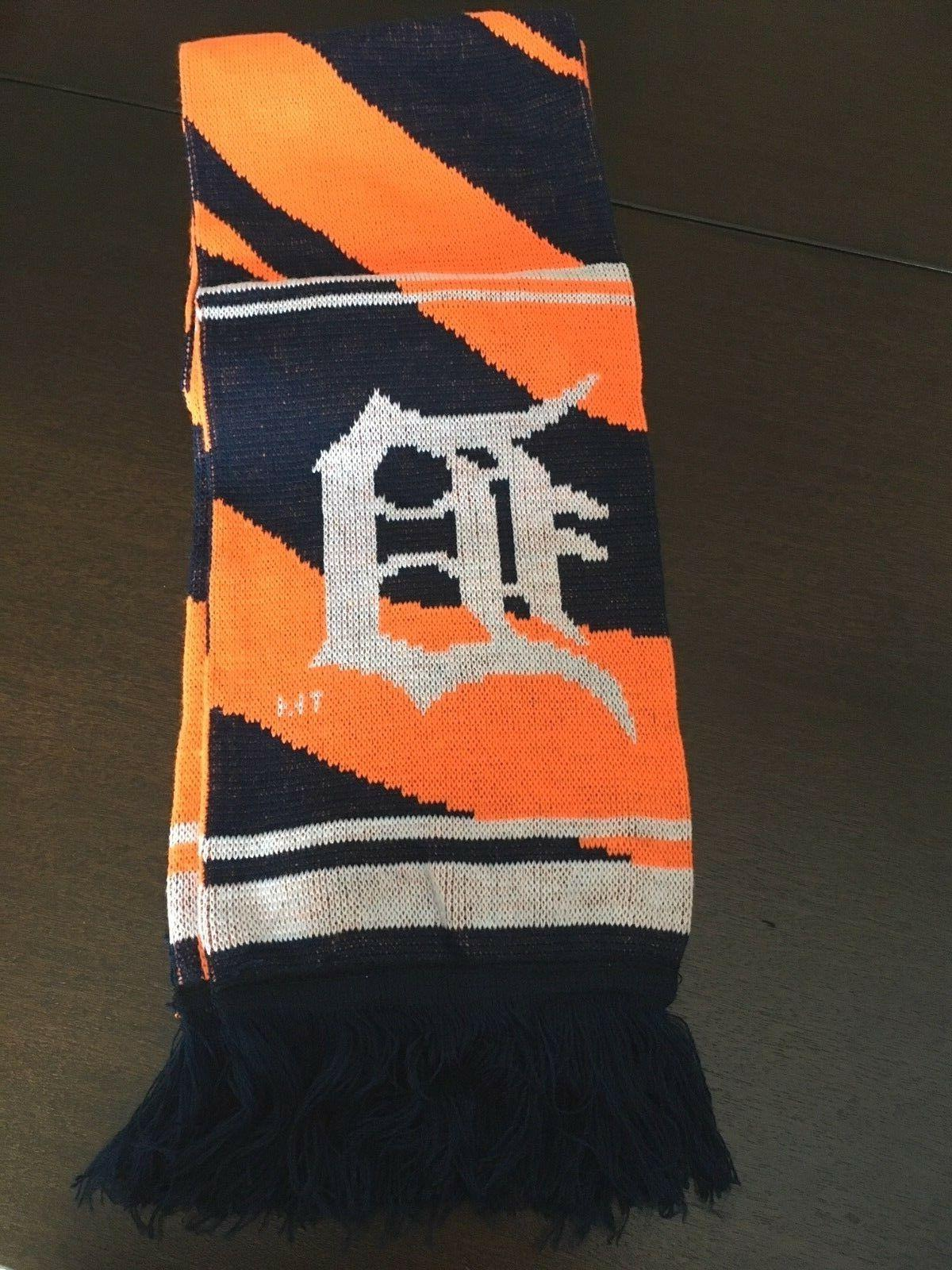 detroit tigers mlb reversable knit scarf new