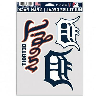 detroit tigers multi use fan 3 pack