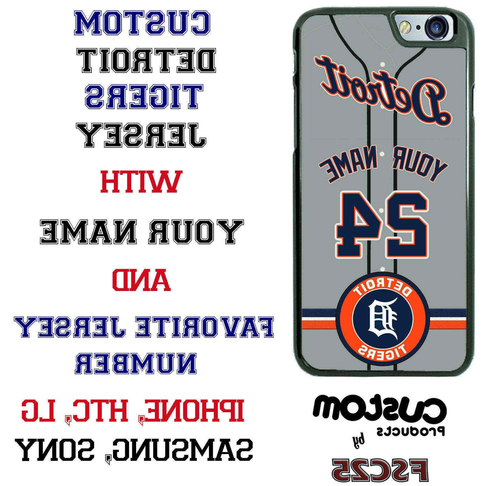 detroit tigers personalize baseball jersey phone case