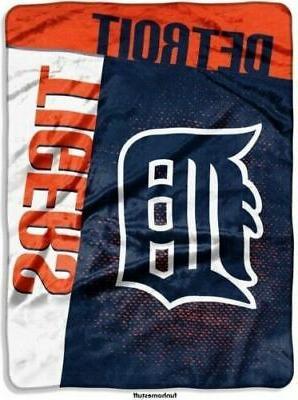 detroit tigers plush raschel throw blanket