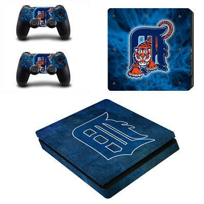 Detroit Tigers PS4 Slim Skin Sticker Decal Vinyl Console+2 c