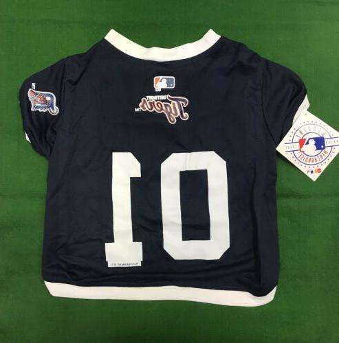 detroit tigers small dog jersey mlb baseball